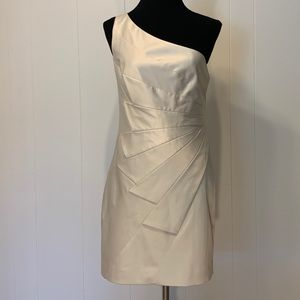 Asymmetrical silk cocktail dress